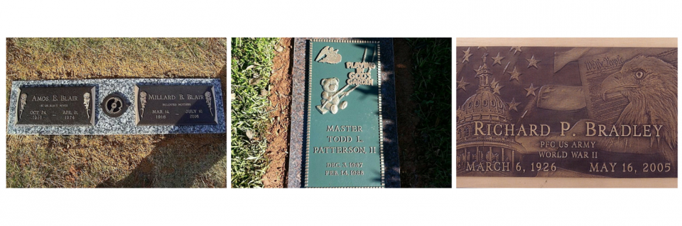 Cast your loved one's memorable moments in a bronze marker that will represent their life here on Earth.